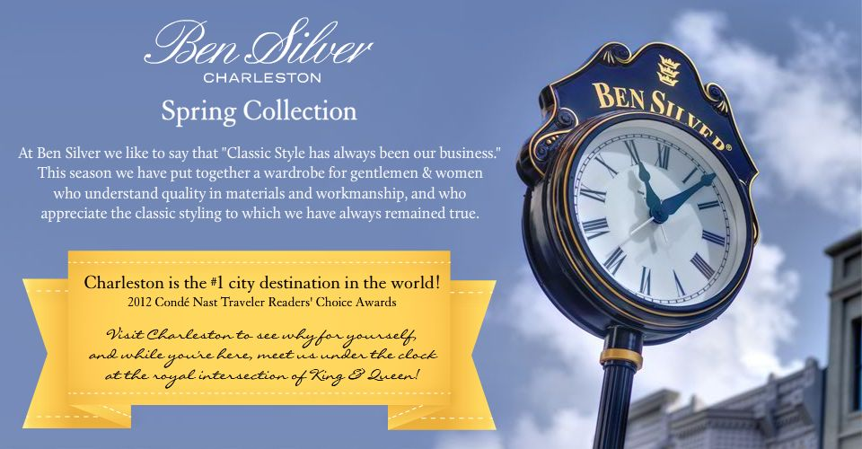Welcome  to our Spring 2013 Collection. At Ben Silver we like to say that  'Classic Style has always been our business.' This season we have put  together a wardrobe for gentlemen and women who understand quality in  materials and workmanship, and who appreciate the classic styling to  which we have always remained true.
