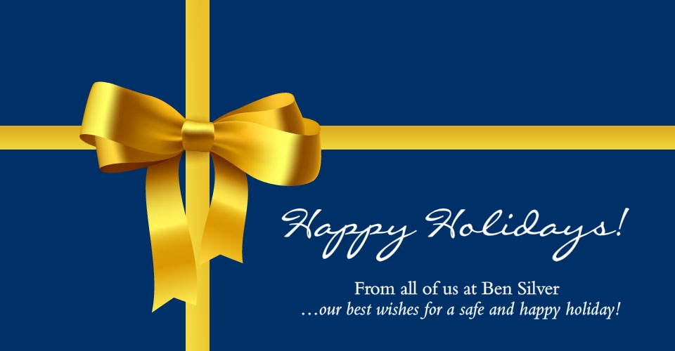 Happy Holidays From Ben Silver.