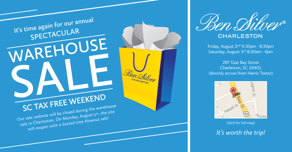 Ben Silver Warehouse Sale!