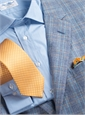 Regal Blue and Cream Glen Plaid Sport Coat