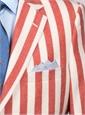 Jacket Wool Red Block Stripe
