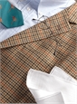 Tan Wool and Cashmere Sport Coat with Multi-Colored District Check