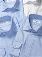 Sky Blue Twill Spread Collar Travel Shirt