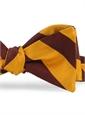 Marigold/Maroon Block Stripe Bow