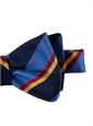 Silk Stripe Bow Tie in Cobalt