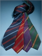 Silk Multi-Color Bar Stripe Tie in Violet