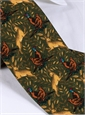 Woodland Printed Tie in Fern