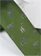 Jacquard Woven Animal Motif Tie in Leaf