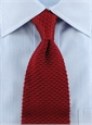 Classic Silk Knit Tie in Cardinal