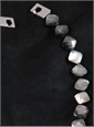 Dark Grey Mother-of-Pearl Single Strand Necklace
