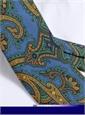 Silk Paisley Printed Tie in Cobalt