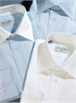 Classic Blue Twill with White Kelly Collar
