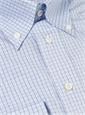 Shirt Sky Small Check with Navy Windowpane