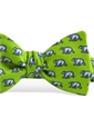 Silk Print Polar Bear Bow in Lime