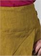 Marie Meunier Linen Croisée Skirt in Moss