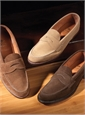 Penny Loafers in Dark Brown Suede