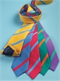 Silk Bar Stripe Tie in Violet with Mint