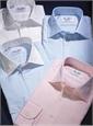 Classic Blue Twill Spread Collar