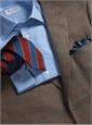 Tan and Charcoal Glen Plaid Cashmere Sport Coat