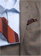 Tan and Charcoal Glen Plaid Cashmere Sport Coat