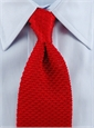 Classic Silk Knit Tie in Red