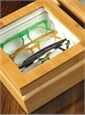 Smaller Eyewear Chest in Bamboo Finish