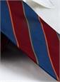 Silk Block Stripe Tie in Wine and Azure