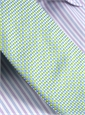 Silk Basketweave Tie in Sky and Lime