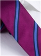 Silk Woven Stripe Tie in Fuchsia and Cornflower