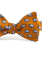 Silk Print Polar Bear Bow in Marigold