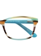 Rectangular Children's Frame in Aqua and Orange Multi-Stripe