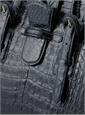 Doctor Bag in Shiny Black Caiman Crocodile