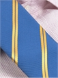 Mogador Silk Double Stripe Tie in Blue with Saffron