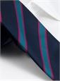 Silk Stripe Tie in Navy