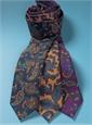 Wool Print Paisley Tie in Copper