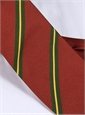 Mogador Silk Striped Tie in Cranberry