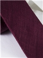 Shantung Silk Solid Tie in Wine
