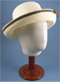 Ladies Cream Sun Hat with Brown Trim