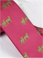 Silk Woven Lab Motif Tie in Magenta