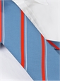 Mogador Silk Striped Tie in Sky