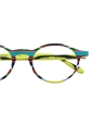 Silver Line Multi-Colored Handmade Frame in Lime and Aqua