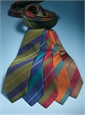 Silk Multi-Stripe Tie in Marine and Teal