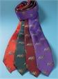 Silk Woven Equestrian Tie in Cranberry