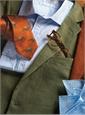 Silk Woven Derby Motif Tie in Forest