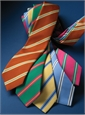 Mogador Dual Stripe Tie in Kelly