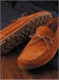 Geox Moccasins in Rust Suede