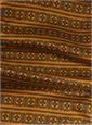 Wool and Silk Aztec Printed Scarf in Marigold