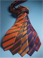 Silk Multi-Color Double Stripe Tie in Ruby