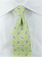 Silk Print Paisley Tie in Lime