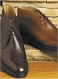 The Brecon Chukka Boot in Dark Brown, E Width